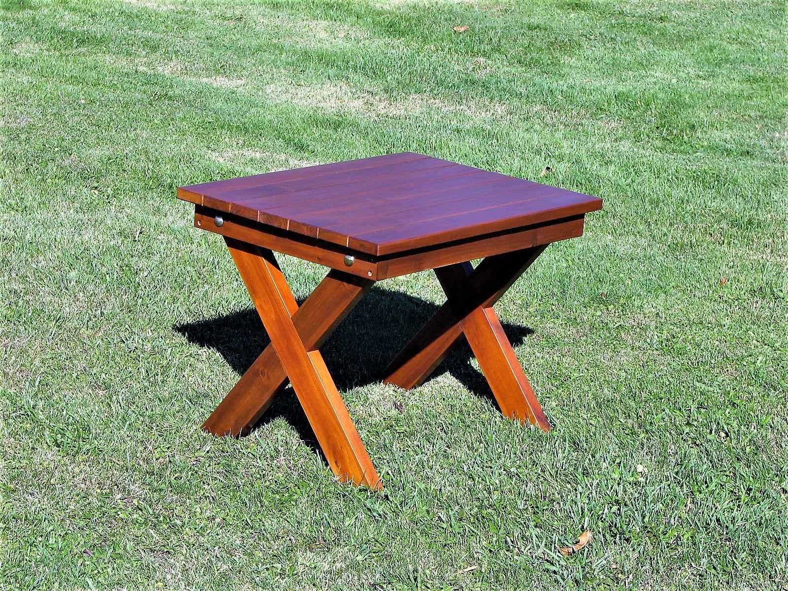 Table basse carree adirondack cedre blanc lagencee16 l - Table basse carree blanc ...